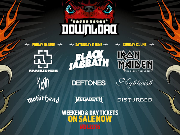 Download Festival 2016 Second Announcement Poster including Deftones, Megadeth and KoRn