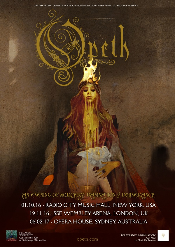 Opeth Deliverance Damnation 3 special shows poster