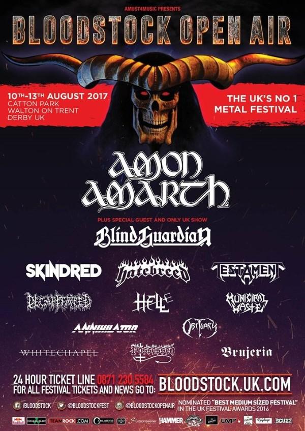 Bloodstock Open Air Festival 2017 Skindred Poster
