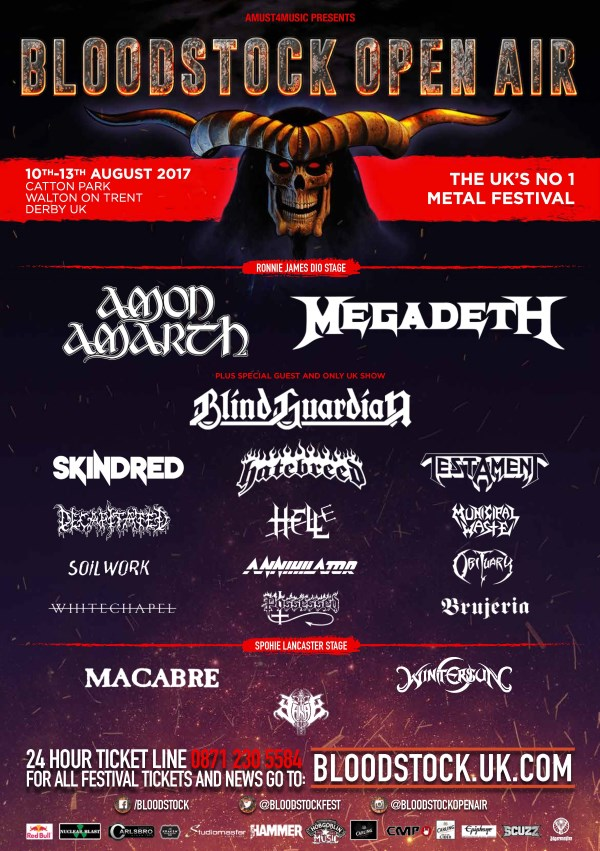 Bloodstock Festival 2017 End Of January Line Up Poster
