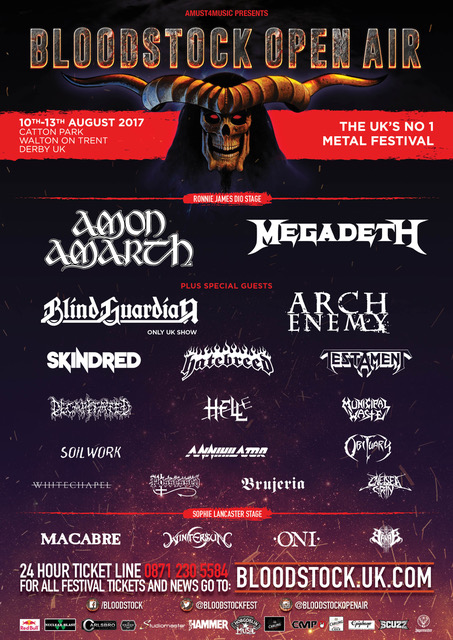 Bloodstock Open Air Festival 2017 6th Line up poster