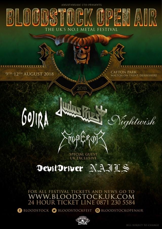 Bloodstock Open Air 2018 Festival Poster - Emperor