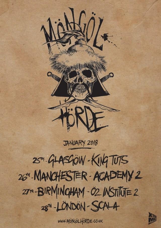 Mongol Horde 2018 Jan UK Tour Poster