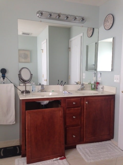 painted vanity, how to paint a vanity, best paint for vanity