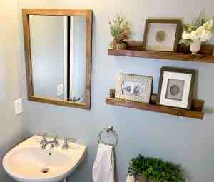How To Make A Diy Frame For A Bathroom Mirror