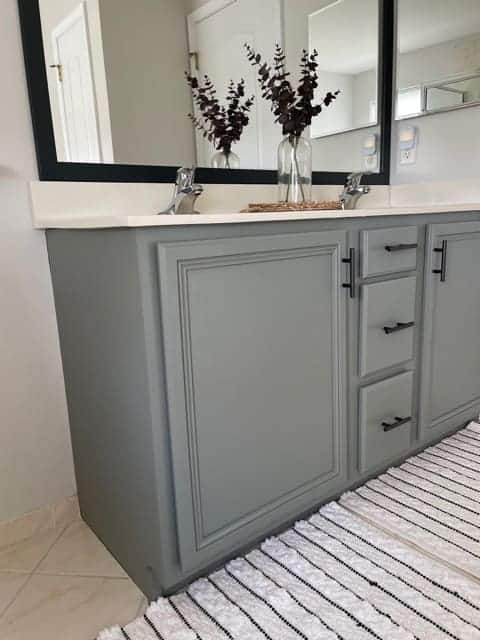 how to paint a bathroom vanity