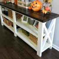How to Make a Rustic Console Table