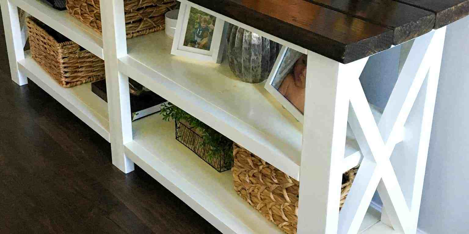 How To Make A Rustic Console Table Rock Solid Rustic