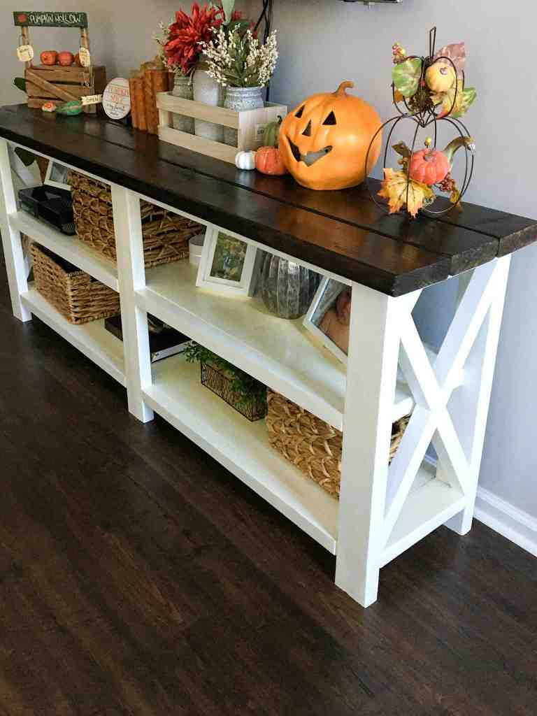 how to make a console table, farmhouse Console Table