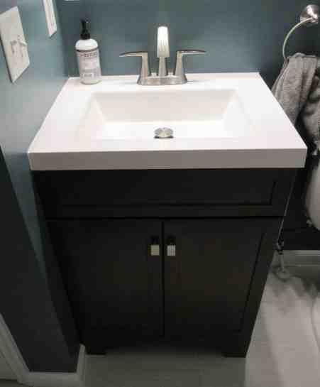 how to install a bathroom vanity