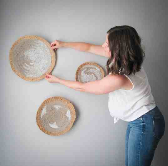 how to hang decorative baskets