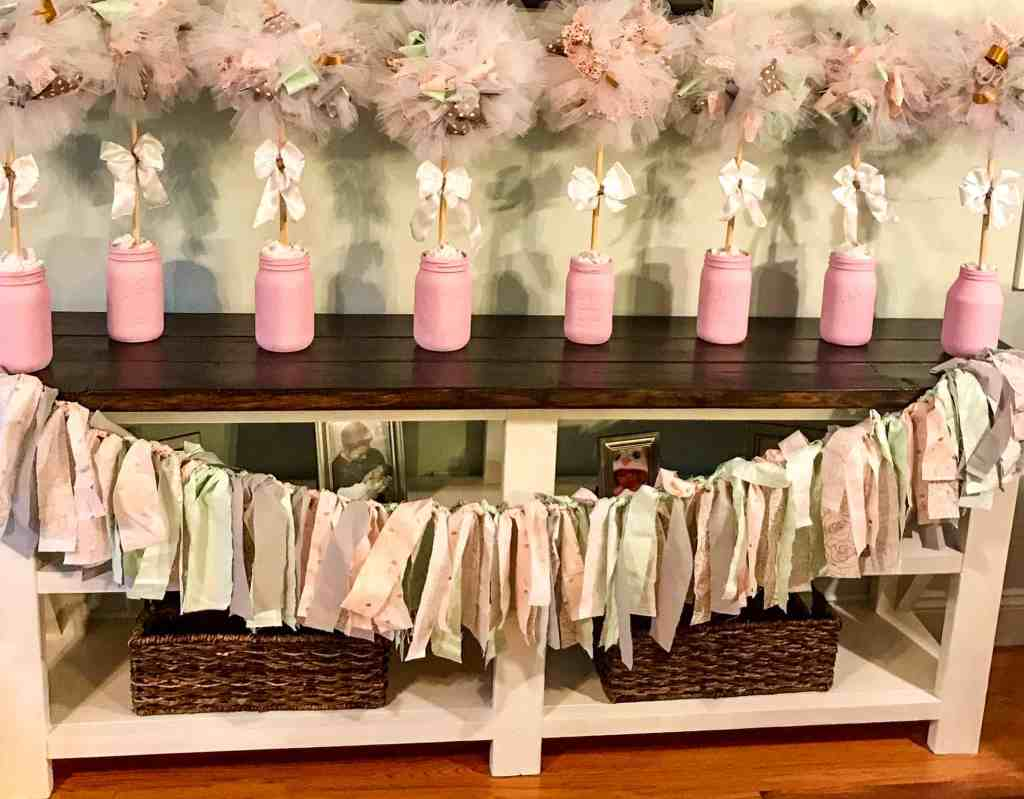 bridal shower center piece