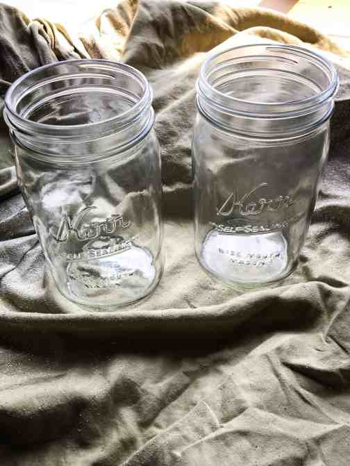 mason jar spray paint projects