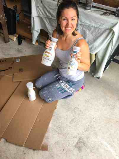 easy spray paint projects using Califia farms bottles