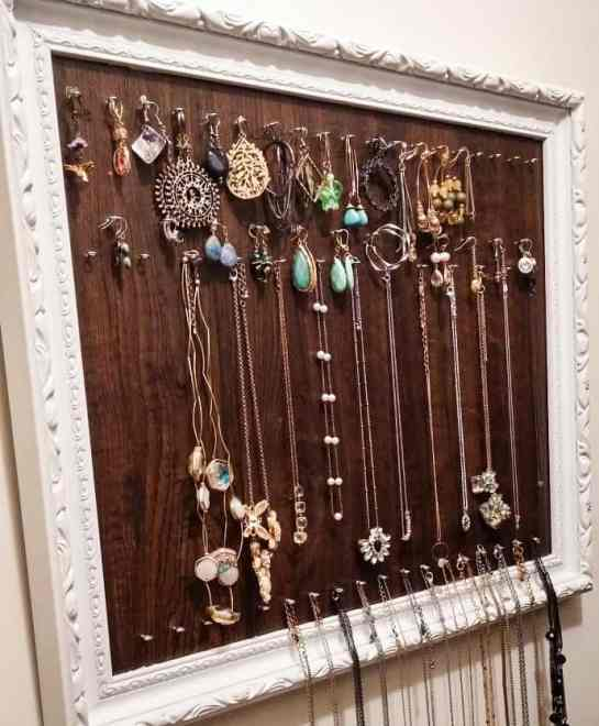 upcycled diy jewelry organizer, diy scrap wood projects