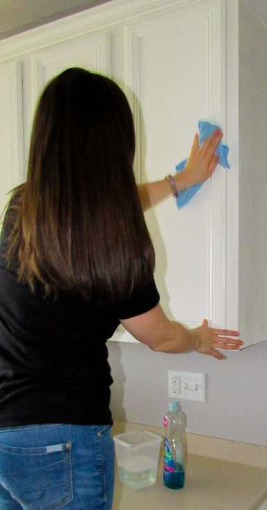 how to care for painted cabinets