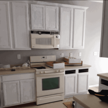 how to paint laminate cabinets, do not make these common mistakes, rust-oleum cabinet transformation
