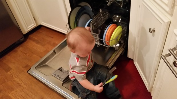 Dishwasher helper.