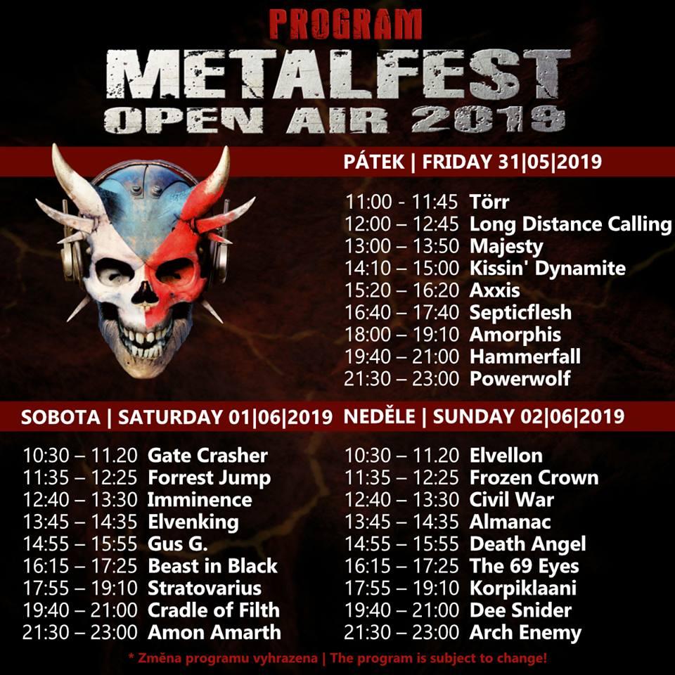 Metalfest 2019 line up