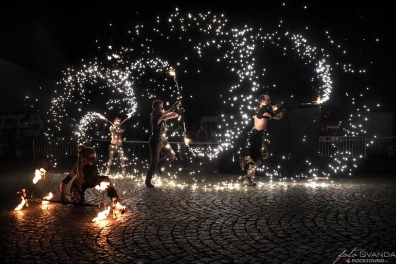 Fireshow Alterna, Plameny Rockfest 2019