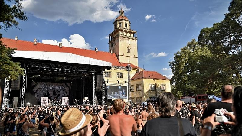 Moravský Krumlov, festivalový areál, zámecký park