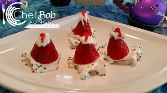 Gluten Free Strawberry Santa Hat Cookies