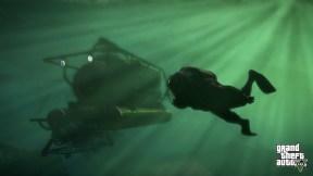 Murky underwater