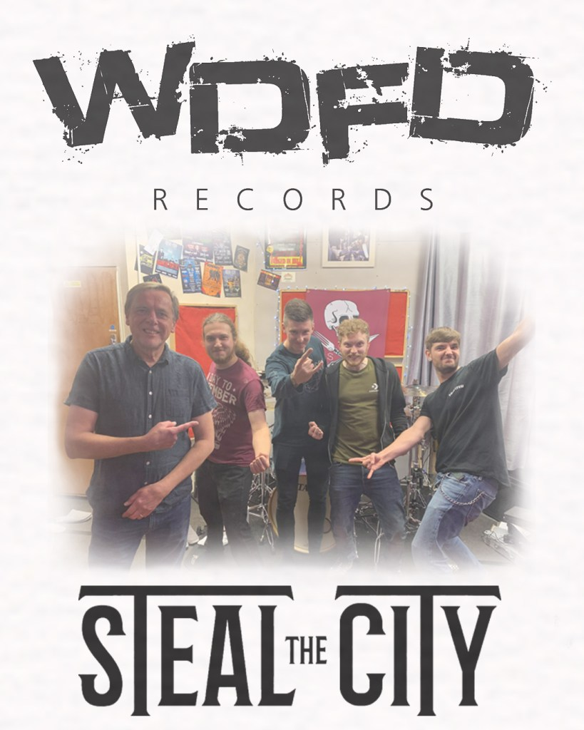 Image of Keith Lamley and Steal The City on the day they signed to WDFD Records