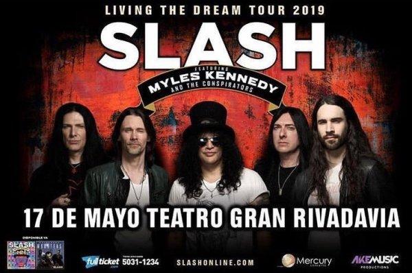 SLASH En El Teatro Gran Rivadavia, Buenos Aires @ Teatro Gran Rivadavia