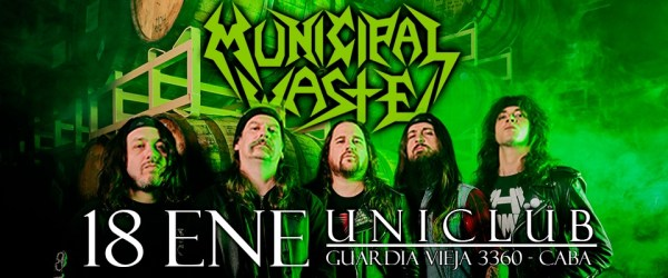 MUNICIPAL WASTE en Uniclub, Buenos Aires @ Uniclub | Buenos Aires | Argentina