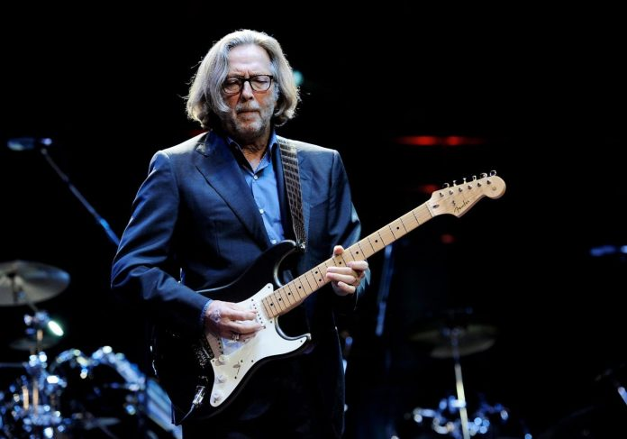 LONDON, ENGLAND - NOVEMBER 17: ***EXCLUSIVE*** Musician Eric Clapton performs at The Prince's Trust Rock Gala 2010 supported by Novae at the Royal Albert Hall on November 17, 2010 in London, England. (Photo by Ian Gavan/Getty Images)