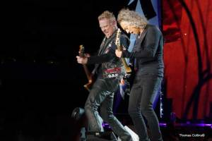 Hammett and Hetfield - Photo by Tom Collins