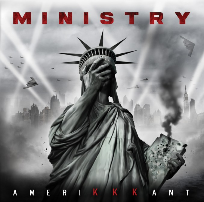 Ministry album cover for AMERIKKKANT