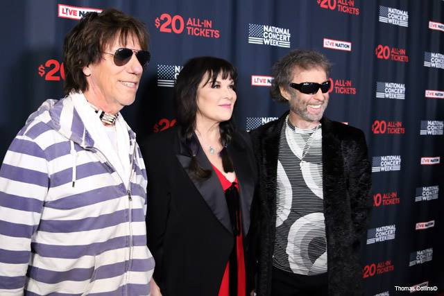 Jeff Beck, Anne Wilson, and Paul Rodgers