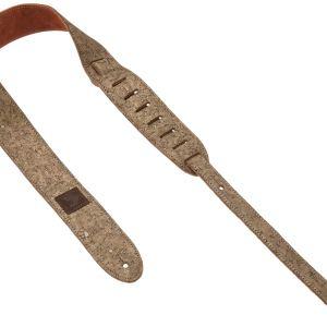 NEW D'Addario (20SD03) Gold Cork Suede Guitar Strap