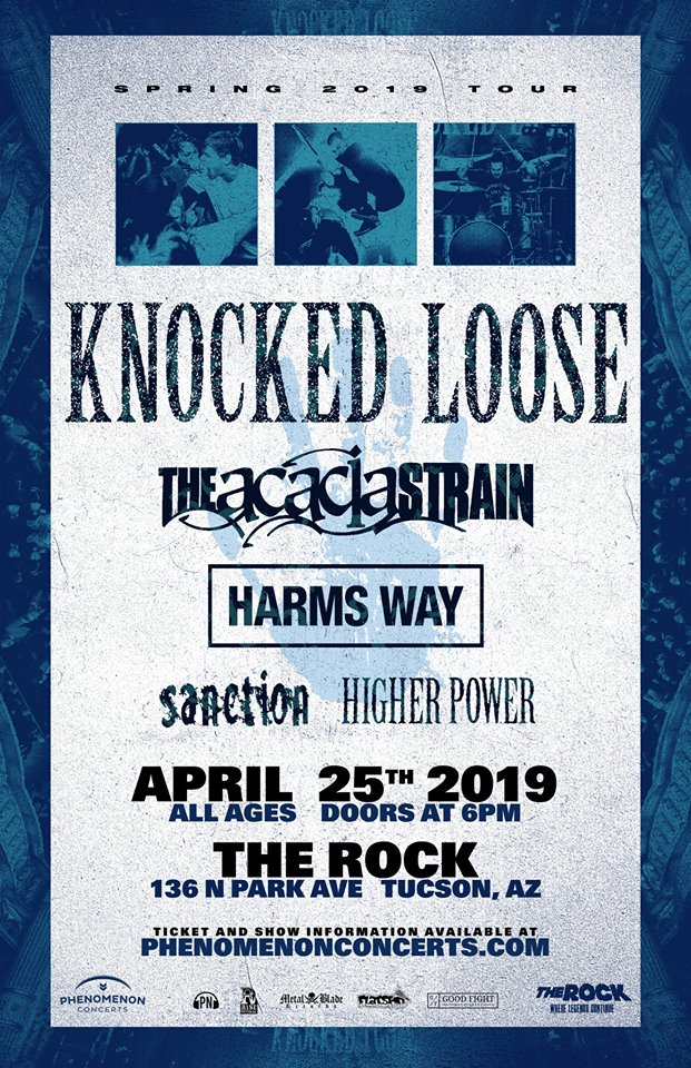 HOLY SHIT!!!! Knocked Loose, The Acacia Strain, Harms Way https://www.facebook.com/events/2253022871625835/