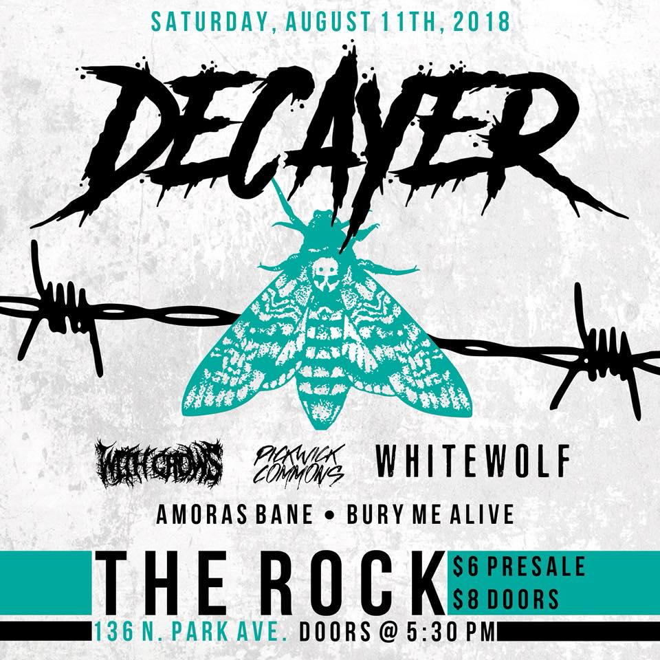 """Decayer performing live at the Rock with special guests https://www.facebook.com/events/537337003335332/"