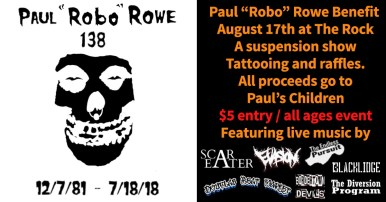 """We are 138 a Paul """"Robo"""" Rowe Benefit at the Rock!"""