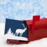 Reindeer Silhouette Christmas Card