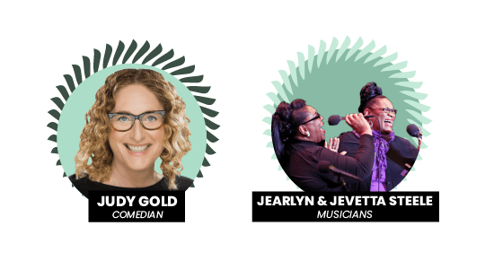 Comedian, Judy Gold, and musicians, Jearlyn and Jevetta Steele take on the Pay Gap Festival 2021