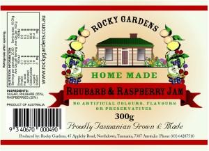 Rhubarb & Raspberry Jam Nutritional Information