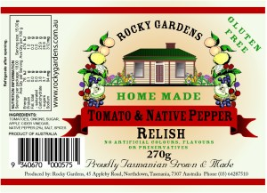 Tomato & Native Pepper Relish Nutritional Information