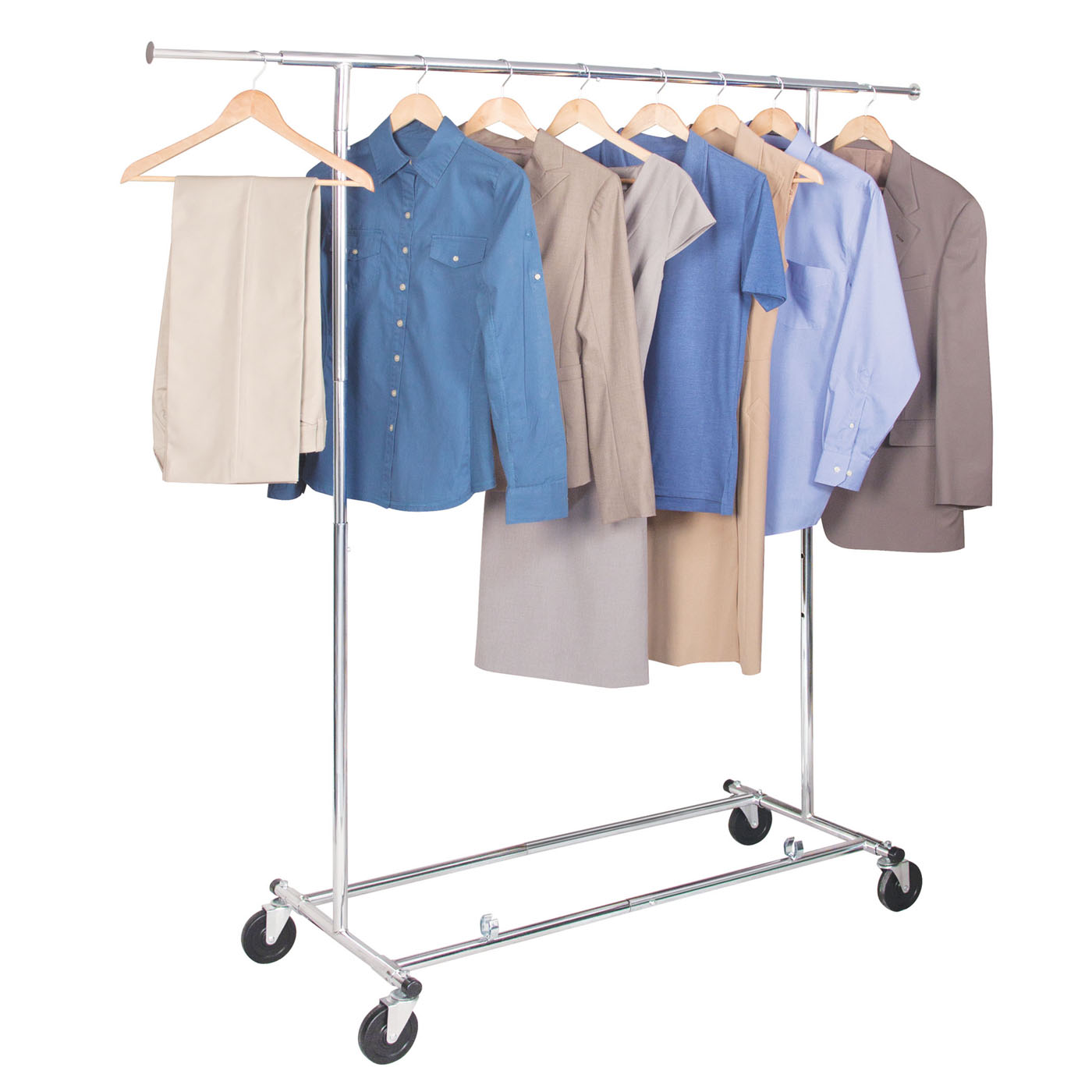 Le Meilleur Commercial Chrome Garment Rack In Clothing Racks And Wardrobes Ce Mois Ci