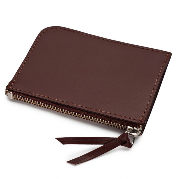 Le Meilleur Zippe Wallet In Brown Vegetable Tanned Leather Veja Ce Mois Ci