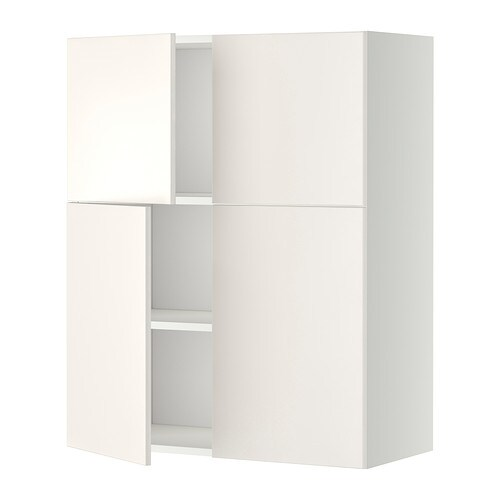 Le Meilleur Metod Wall Cabinet With Shelves 4 Doors White Veddinge Ce Mois Ci