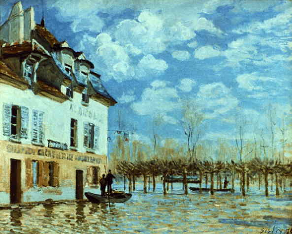 Le Meilleur Webmuseum Sisley Alfred Boat In The Flood At Port Marly Ce Mois Ci