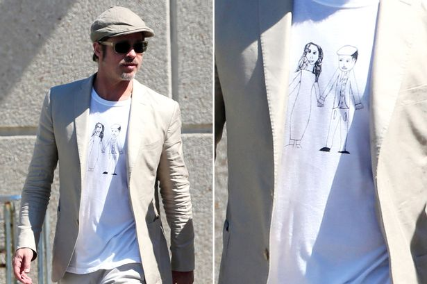 Le Meilleur They Re Even Cuter On Cotton Brad Pitt Wears Cartoon T Ce Mois Ci