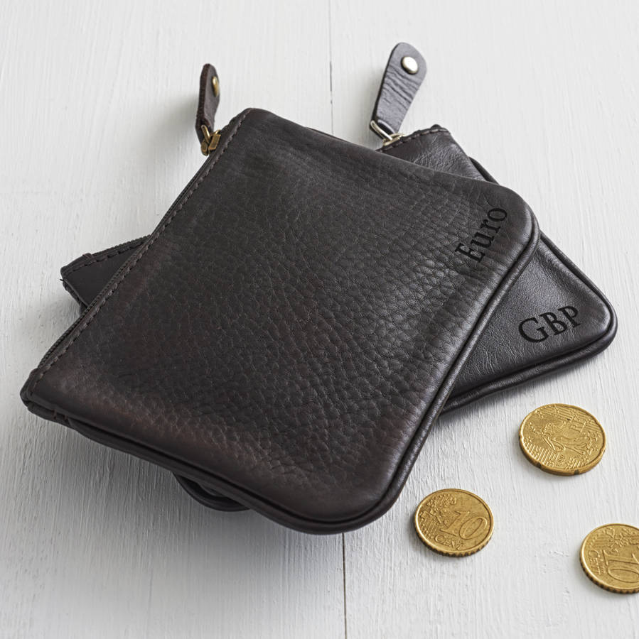 Le Meilleur Personalised Unisex Leather Coin Purse By Nv London Ce Mois Ci