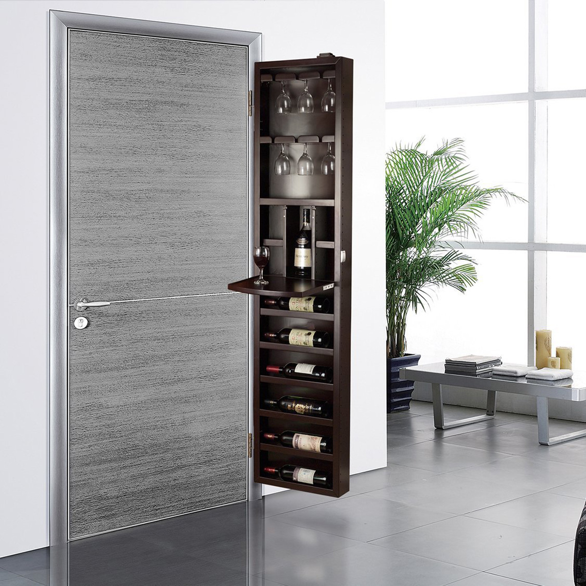 Le Meilleur Cabidor Behind The Door Wine Storage Cabinet The Green Ce Mois Ci