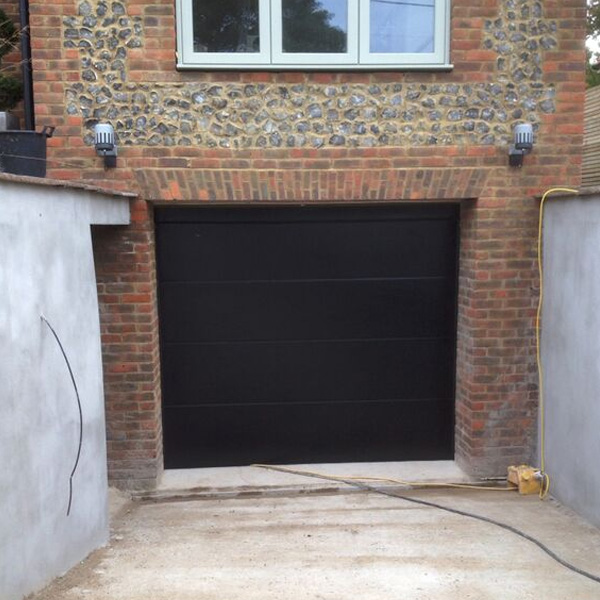 Le Meilleur Novoferm Iso45 Sectional Garage Door In Black Elite Gd Ce Mois Ci